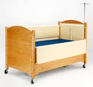 SleepSafe II Bed with Padding and IV Pole