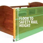 SleepSafe Bed - Floor to Safety Rail Height