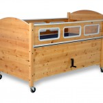 SleepSafe II Bed - Medium Bed - Manual Hi-Lo - In Alder finish