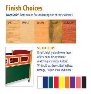 SleepSafe® Bed Finish Choices