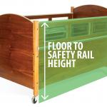 SleepSafe Bed - Floor to Safety Rail Height
