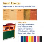 SleepSafe Bed Finish Choices