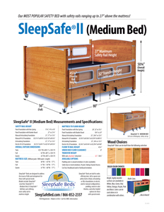 SleepSafe II MEDIUM BED Specifications and Measurements