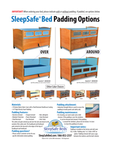 SleepSafe Bed Padding Information