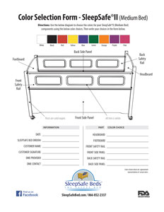SleepSafe II Medium Bed / Coloring Selector