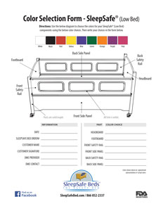 SleepSafe Low Bed / Color Selector