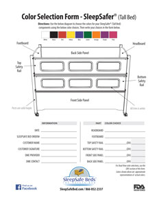 SleepSafer Tall Bed / Coloring Selector