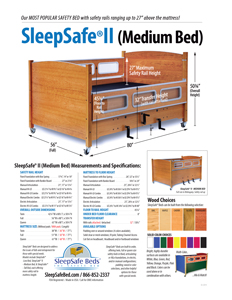 SleepSafe II (Medium Bed) Specifications and Measurements