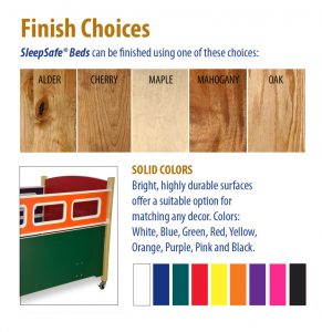 SleepSafe Bed Wood Finishes and Color Laminates