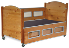 SleepSafe® - BASIC Bed <br> Alder<br>Click for details.