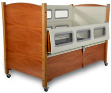 SleepSafer® - Tall Bed <br>(Dual View with Padding) - Cherry<br>Click for details.