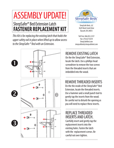 Update - Reinstalling SleepSafe Extension Fasteners - If necessary
