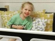 Oaklynn in her SleepSafe Bed