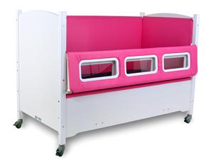 SleepSafer® Tall Bed with Pink Padding around Windows