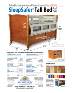 SleepSafer Tall Bed - Specifications