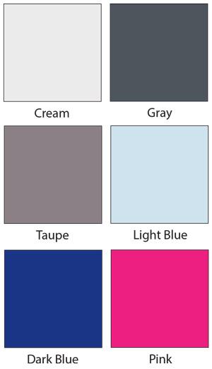SleepSafe Bed Padding Colors - Cream, Gray, Light Blue, Taupe, Dark Blue & Pink